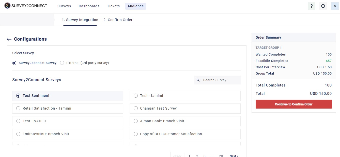 Follow these steps to create audience campaign that would help you collect response from target group for your surveys