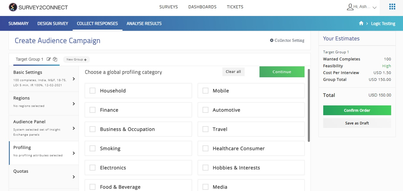 Profiling allows you to narrow your audience when creating an audience campaign