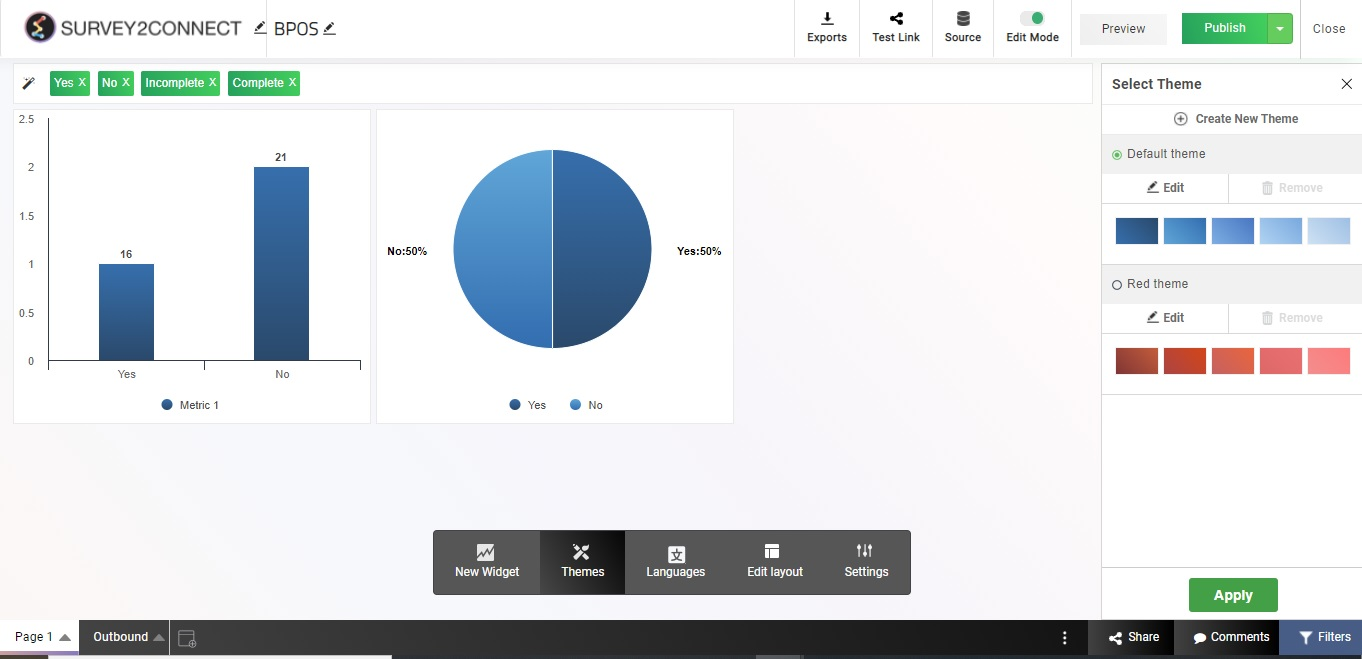 Dashboard themes allow you to customize your dashboard design as per your need