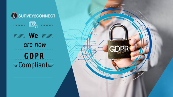 To adhere to local norms of data privacy and protection in European Union, Survey2Connect has now become GDPR compliant